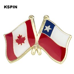 Apparel Sewing & Fabric Humorous Metal Badge Australia Friendship Flag Label Pin Badges Icon Bag Decoration Buttons Brooch For Clothes 2019 Official Home & Garden