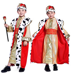 Chinese  Holiday Cosplay Kids Boy Prince Costume Children King Halloween Costumes Children's Day Fantasia European Royalty Clothing Sets manufacturers