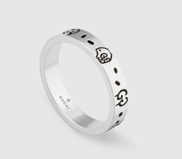 Chinese  Brand design Real 925 Sterling Silver Vintage Rings for Women Men Lovers Punk Fashion Cool Jewelry Skull gg Ring Bijoux Gifts manufacturers
