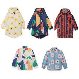 Long Padding Jacket Australia - Kids Jacket Squares Padded 2019 Bobo Choses Winter Down Parkas Boys Clothes Coats Geometric Hooded Baby Girls Warm Long Outwear