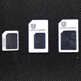 Micro Cutters Australia - Free DHL 3 in 1 Brand New Nano & Micro & Standard Sim Card Converter Adapter Nano sim card Micro sim Card for Mobile Phone