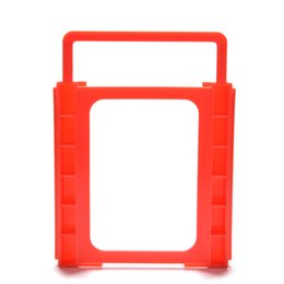 """$enCountryForm.capitalKeyWord Australia - Wholesale 2.5"""" to 3.5"""" SSD HDD Notebook Hard Disk Drive Mounting Rail Adapter Bracket Holder with Screws Red"""