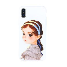 $enCountryForm.capitalKeyWord UK - Paris Long Hair Girl Pattern Crashproof Back Cover TPU Cell Phone Cases Protective Covers For Apple iPhone X XR XS MAX 6 6S 7 8 PLUS