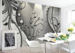stereo painting Australia - Custom 3D Photo Wallpaper Mural Hand Painted Lace 3D stereo flower TV background Wall Mural Living Room Home Decor Painting Wall Paper