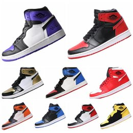 newest e5e3d 8aec5 2019 Best Air Jordan 1 AJ I High OG Jeu Royal interdit Shadow Bred Toe  Chaussures