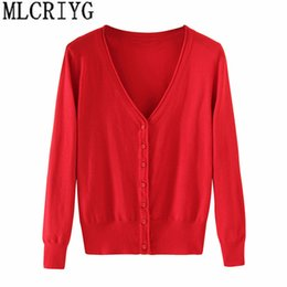 $enCountryForm.capitalKeyWord NZ - Spring Lady's Knitted Sweater Plus Size 5xl Cardigans For Women Long Sleeve Female Cardigan Short Sweaters Sueter Mujer Yq213 T190823