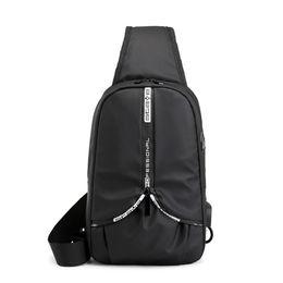 $enCountryForm.capitalKeyWord Australia - Crossbody Bags for Men Messenger Chest Bag Pack Casual Bag Waterproof Nylon Single Shoulder Strap Pack USB Charging 2019 Apr26