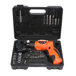 Battery power drills online shopping - 4 V Electric Screwdriver Lithium Battery Rechargeable Parafusadeira Furadeira Multi Function Cordless Drill Power Tools