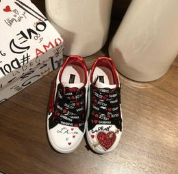 communion shoes Australia - 2020 new children shoes fashion letters kids shoes size 26-35 free shipping 022205