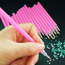 $enCountryForm.capitalKeyWord Australia - 10 Pcs Set Nail Art Rhinestones Picking Tools Pencil Dotting Pick Up Pen