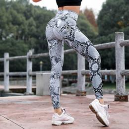 Yoga pants for plus sizes online shopping - Workout Leggings High Waist Snake Printed for Woman Push Up Leggings Women Sporting Fitness Gym Elastic Slim Yoga Pants