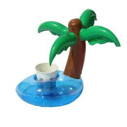 pineapple cups UK - Design Inflatable Cup Holder Unicorn Pineapple Mushroom Coconut Tree Drink Coaster Summer Party Supplier Pool Toy 2 7cs WW