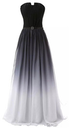 Wholesale gradient blue chiffon dress resale online - 2019 Newest Sexy Chiffon Long Gradient Evening Dresses With Lace Up Ombre Formal Prom Party Gown Vestido Longo AL23