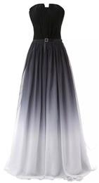 eeff1afead 2019 más nuevo sexy gasa vestidos de noche de gradiente largo con encaje  hasta Ombre fiesta de graduación formal vestido Longo AL23