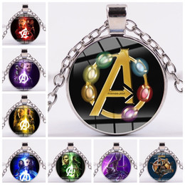 Marvel pendants online shopping - Avengers Necklaces Vintage Silver Color The Avengers Marvel Super Hero Captain America Statement Necklaces Pendants For Women Men Jewelry