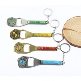 $enCountryForm.capitalKeyWord Australia - Harry Potter Badge Bottle Opener Fashion Alloy Pendant Keychain Metal Key Ring Home Supplies Decor Party Favor Gift TTA1492