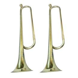 Ingrosso 2pcs School Band Trumpet Cavalleria, Ottone Bugle strumento per gli amanti della musica
