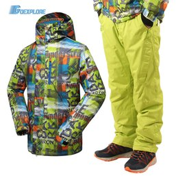 $enCountryForm.capitalKeyWord NZ - Goexplore Ski Suit Men Outdoor Waterproof Skiing Mountain Sport Snowboard Suit Snow Set Winter Men Pants And Jacket Male