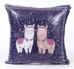 $enCountryForm.capitalKeyWord UK - Unicorn Paillette Pillow Cover Alpaca Magical Bedroom Cushion PillowCase Reversible Chair Seat Decorative Wedding Pillow Case 19 Styles Gift