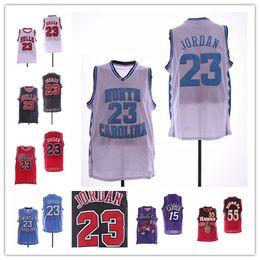 be9ac8c9eabd4 Caroline du Nord Tar Heels 23 Maillot Michael Vince 15 Carter Atlanta  Maillots de basketball Dikembe Mutombo   55