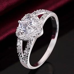 $enCountryForm.capitalKeyWord Australia - New Cheap Fashion Silver Plated Women Crystal Wedding Bridal Lady heart Ring High Quality Fashion Jewelry