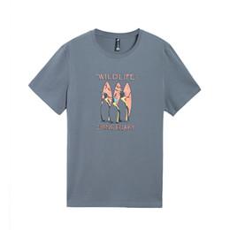$enCountryForm.capitalKeyWord UK - wholesale Short Sleeve T Shirts Men Penguin Printed Animal 100% Cotton T Shirt Summer Casual Brand Clothing 3 Color