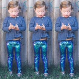 $enCountryForm.capitalKeyWord Australia - Kids Baby Girls Mermaid Fish Scale Leggings Botoms Pencil Pants Trousers Us Sell