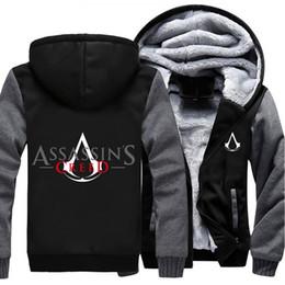 $enCountryForm.capitalKeyWord Australia - USA size Men Women Game Movie Assassins Creed Zipper Jacket Thicken Hoodie Coat Clothing Casual