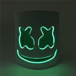 Pvc ProPs online shopping - Party Masks Diy Eva Dj Marshmello Led Light Party Mask Cosplay Prop Halloween Mask Funny Halloween Bar Masks Helmet