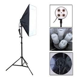 $enCountryForm.capitalKeyWord Australia - Studio Accessories Photo Studio Softbox Kit Four Socket Lamp Holder + 50*70CM Flash Lighting Softbox +2m Light Stand Photo Soft Box
