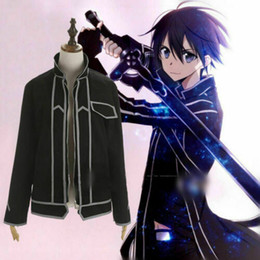 sword art kirito cosplay costume Australia - Sword Art Online Kirito Jacket uniform Cosplay Costume custom made