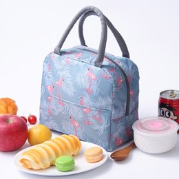 Picnic Ice Packs Australia - Portable lunch bag fashion printing large capacity insulation package ice pack outdoor picnic bag lunch box