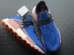 Plastic Red Heart Australia - Wholesale Pharrell Williams Human Race PW HU HOLI MC Heart Idea Designer Men Women Running Shoes Afro Hu Trial Solar Pack Sports Sneakers