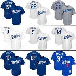 964f862bb Los Angeles Dodgers 22 Clayton Kershaw 10 Justin Turner 23 Adrian Gonzalez 35  Cody Bellinger 5 Corey Seager Stitched Baseball Jerseys
