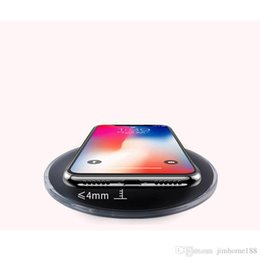 $enCountryForm.capitalKeyWord Australia - UFO fast wireless charger charging pad with LED light cable for S7 Edge S8 Plus note8 Iphone X 8 plus retail box US01