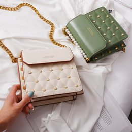 Computer Chains Australia - Superior2019 Packet Feel Senior Joker Western Style Pearl Woman Package France Niche Chain Messenger