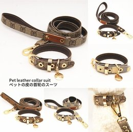 Two dog leash online shopping - Two color optional leather dog traction suit pet collar pet supplies manufacturers wholesale0001