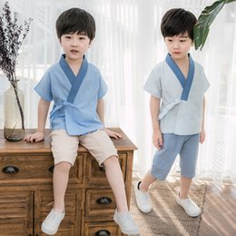 Boy Chinese Suit Australia - Boys Hanfu suit children's Tang suit baby Chinese style spring and autumn baby 2-7 years old 8 dress 9 retro suit