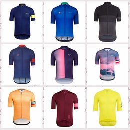 custom bike wear Canada - RAPHA team custom made Cycling Short Sleeves jersey Summer men's comfortable wear-resistant sports mountain bike clothing S6936