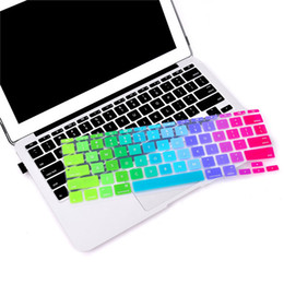 Macbook Retina 13 Inches UK - For Pro 13 15 inch Retina 13 US Silicone Keypad Skin Protector Flower Decal Rainbow Keyboard Cover