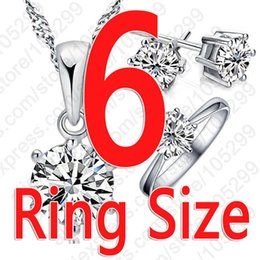 peacock studs UK - 925 Sterling Silver Bridal Jewelry Sets For Women Accessory Cubic Zircon Crystal Necklace Rings Stud Earrings Set Gift