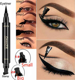 EyElinEr stamp online shopping - Cmaadu New Brand Liquid Eye Liner Pencil Make Up eye Pencil Waterproof Black Double ended Makeup eyeshadow Stamp Eyeliner Pencil