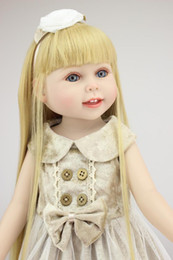 Christmas Gift Shoes Australia - 18 In 45cm American Girl Doll With Clothe Shoe Suit Real Lifelike Soft American Girl Doll Toy For Girl Birthday Christmas Gift LE006