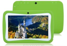 Big taBlets online shopping - Kids Brand Tablet PC quot Quad Core children tablet Android ALLWINNER A33 google player wifi big speaker protective cover