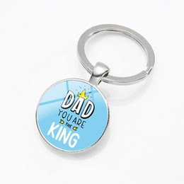$enCountryForm.capitalKeyWord Australia - I Love MY DAD The Best Dad Series 4 Keychain Glass Dome Alloy Keychain Creative Small Gifts Wholesale Individual Packaging