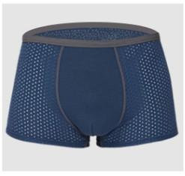 Mesh ice silk men's underwear quick dry breathable heat sexy U convex boxer mid-rise waist pants short summer cool
