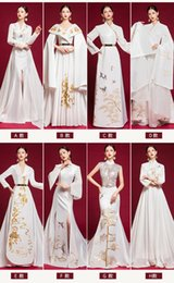 $enCountryForm.capitalKeyWord Australia - 100%real white series embroidery long gown stage stuido performance dress Renaissance Gown queen Victoria ball gown Belle Ball