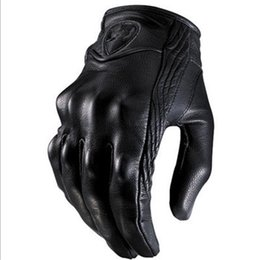 $enCountryForm.capitalKeyWord NZ - Stylish Leather Motorcycle Gloves Protective Armor Short Gloves S TO 2XL Full Finger Without Hole High Quality for Riding Sports