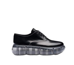 $enCountryForm.capitalKeyWord UK - Perfect Shoes Italy New Release Rare Edition Genuine Black Leather Oxford Shoes With Rubber Sole Light Transparent Shoes
