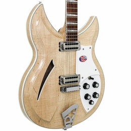china 12 string electric guitars Australia - China 12 strings 381 Natural wood Guitar Natural wood semi hollow body 381V69 Mapleglo Electric Guitar